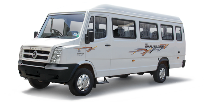 2 X1 18-seater Tempo Traveller on rent in delhi