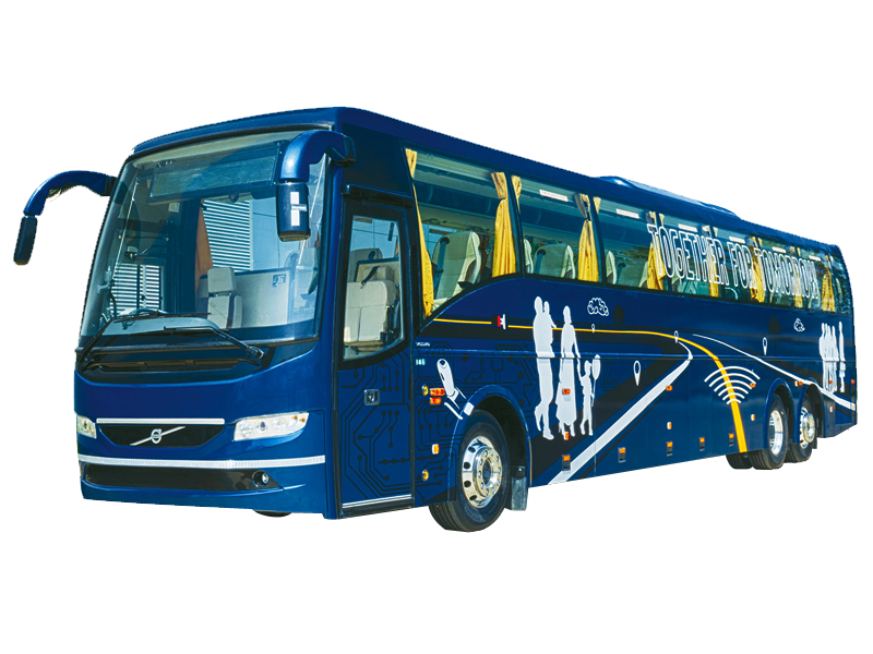 53 Seater Volvo with washroom Multi Axle  on rent in delhi