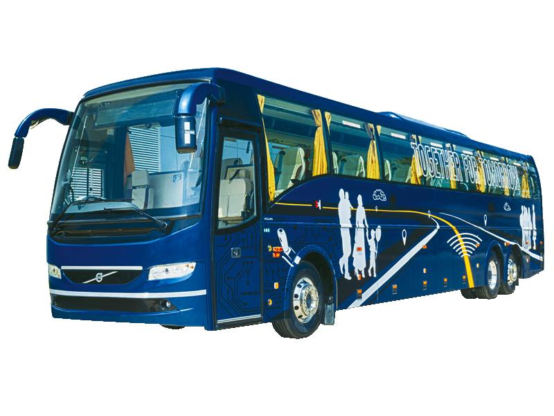 53+ washroom Multi Axle Volvo Luxury Bus  on rent in delhi