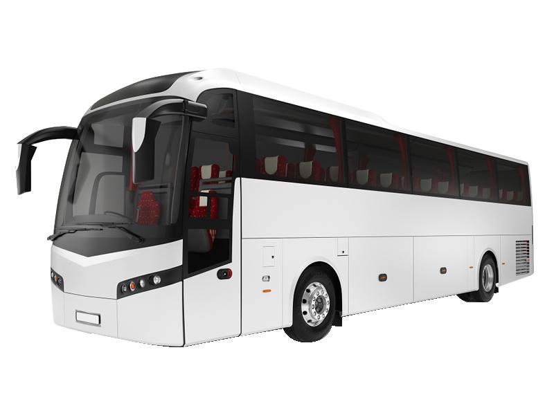 Volvo 41 Seater Luxury Washroom Coach on rent in delhi