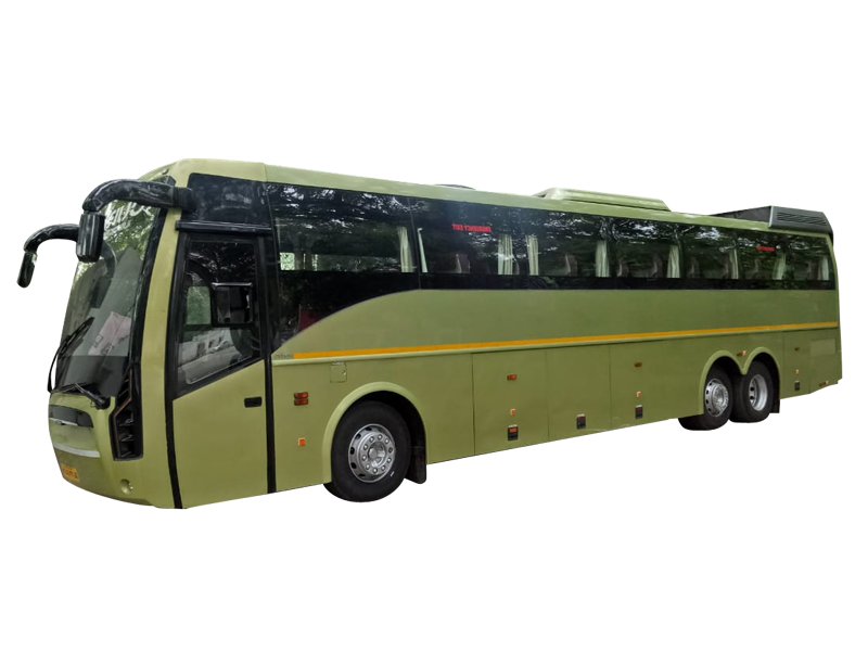 Volvo 49-Seater Multi Axle Luxury Coach  on rent in delhi