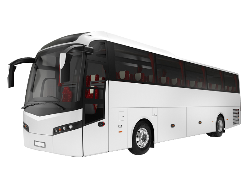 Volvo 41 Seater Luxury coach with Thigh Rest on rent in delhi