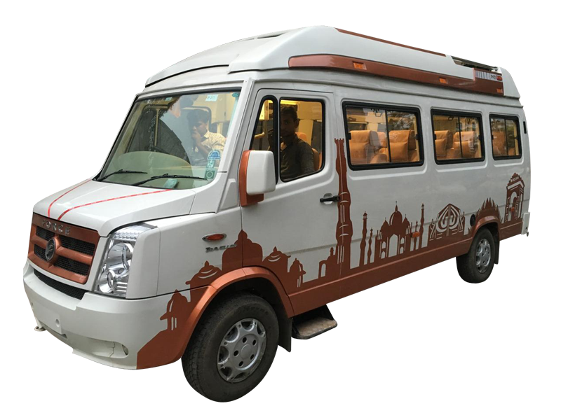 9 Seater Luxury tempo Traveller on rent in delhi