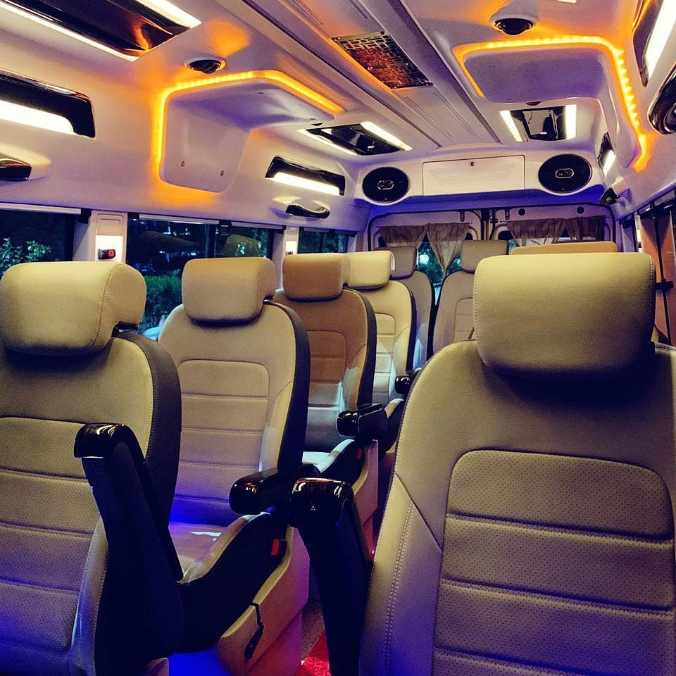 1x1 11+ D Luxury Tempo Traveller hire in Delhi